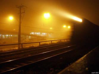 Locomotive in the mist by latuff