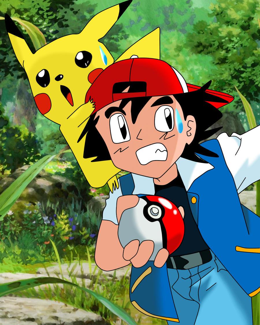 Pokemon: Ash and Pikachu! by sailorstarflare on deviantART
