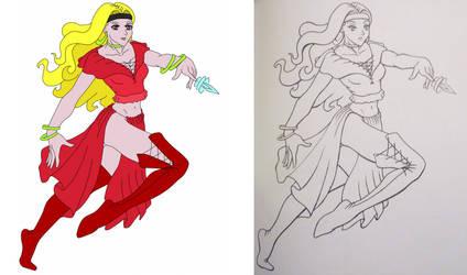 Female Warrior ~ comparison