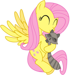Fluttershy and Raccoon