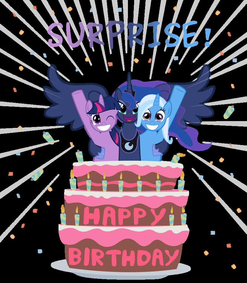 Открытка девочке с пони с днем рождения