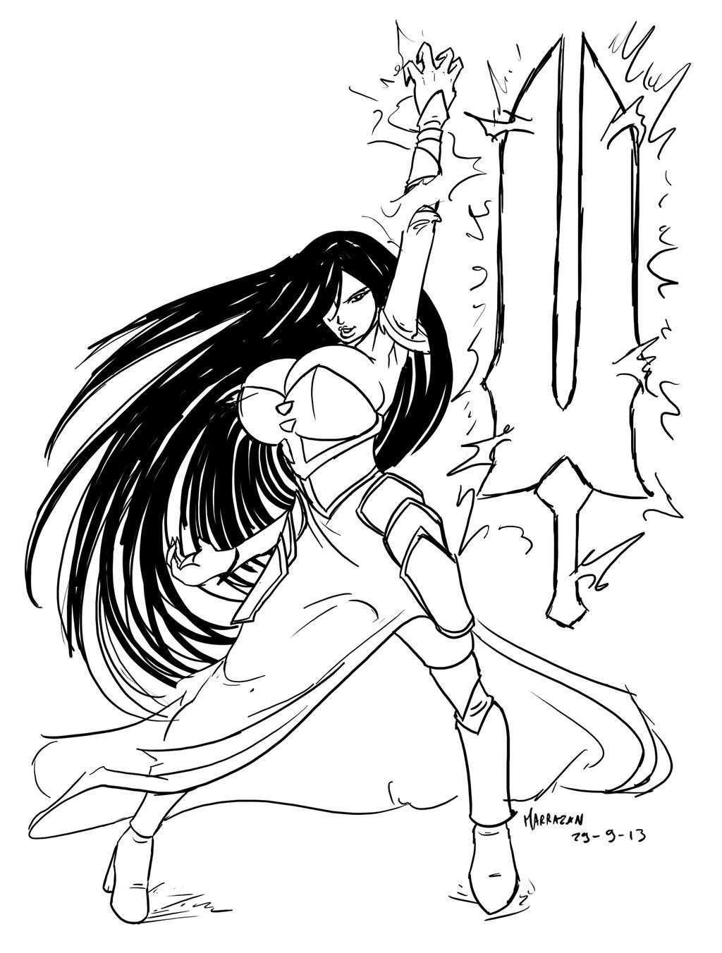 Lucretia cosplaying Shanoa by Marrazan