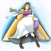 The Legend of Zelda Preggo - Zelda by Marrazan