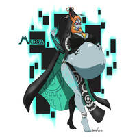 The Legend of Zelda Preggo - Midna by Marrazan