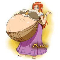 The Legend of Zelda Preggo - Malon by Marrazan