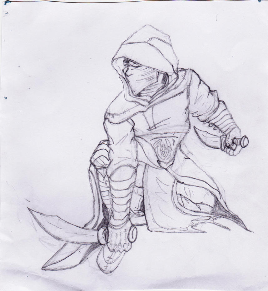 old assassin drawing by DeeJR on DeviantArt