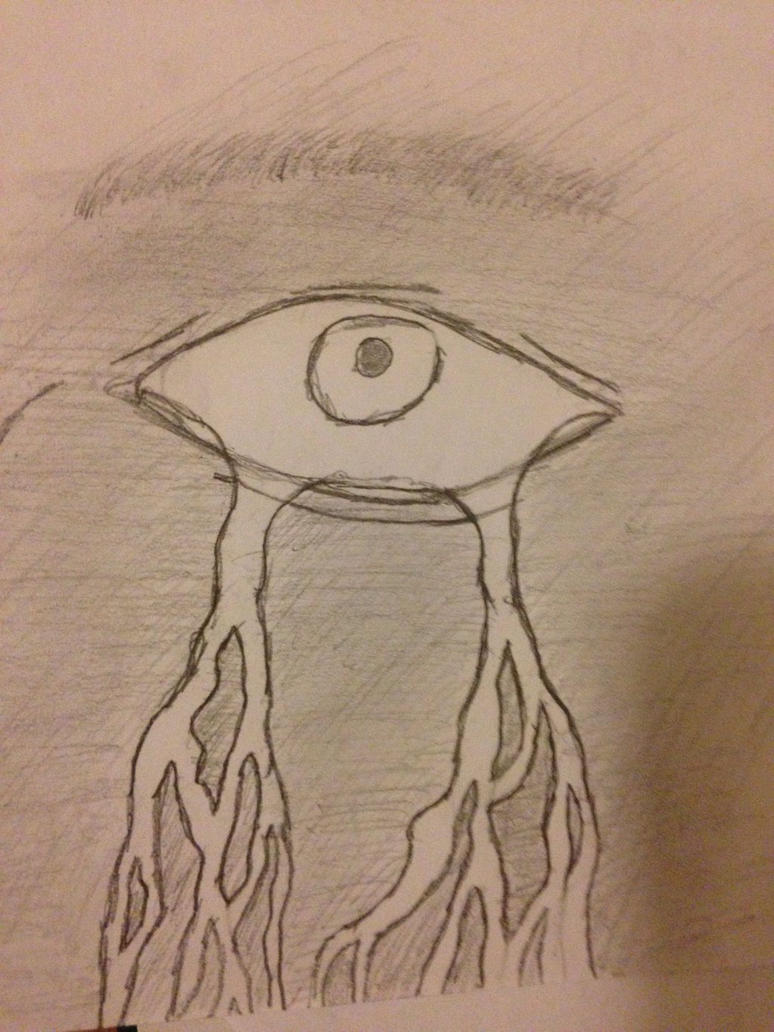 Crying eye by Mrbacon360