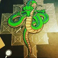 Perler Shenron from Dragon Ball Z by 8bitcrafting