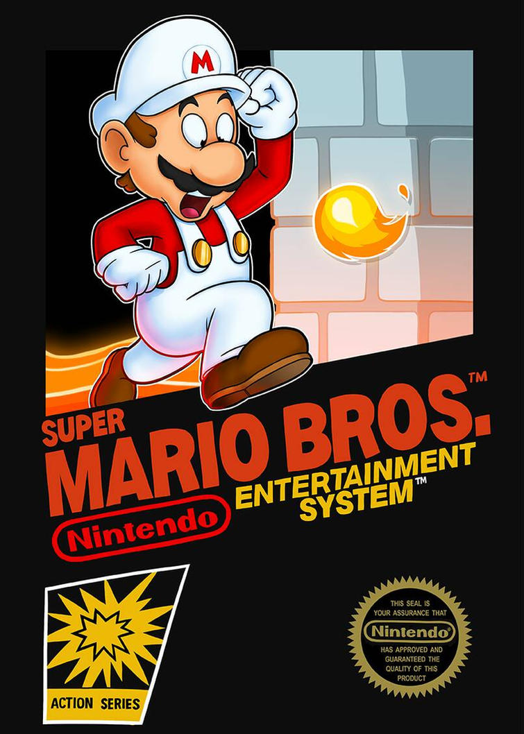 Super Mario Bros Nes Cover Art By Tararaboom On Deviantart
