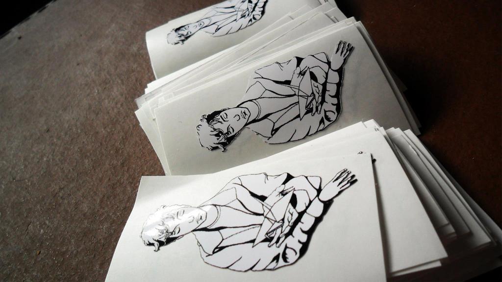 Origami boy stickers by sneak3218
