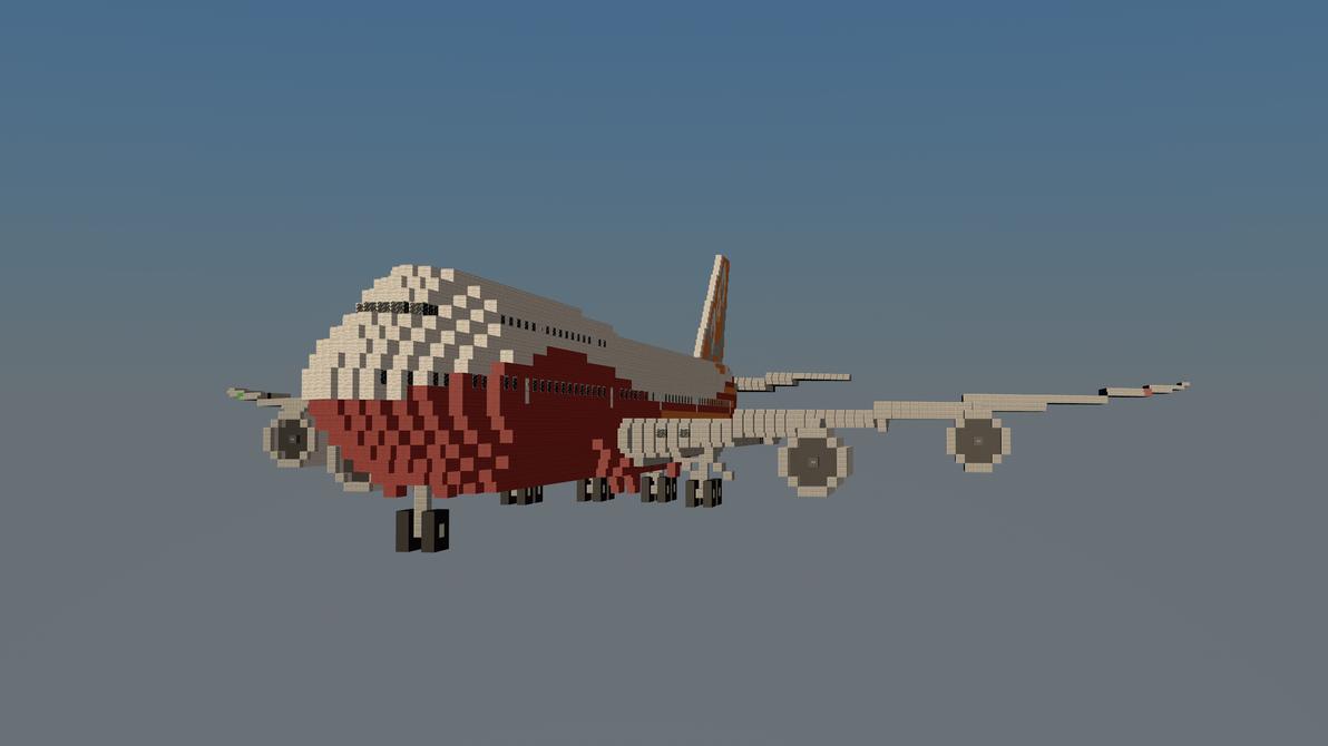 Boeing 747 klm minecraft project.