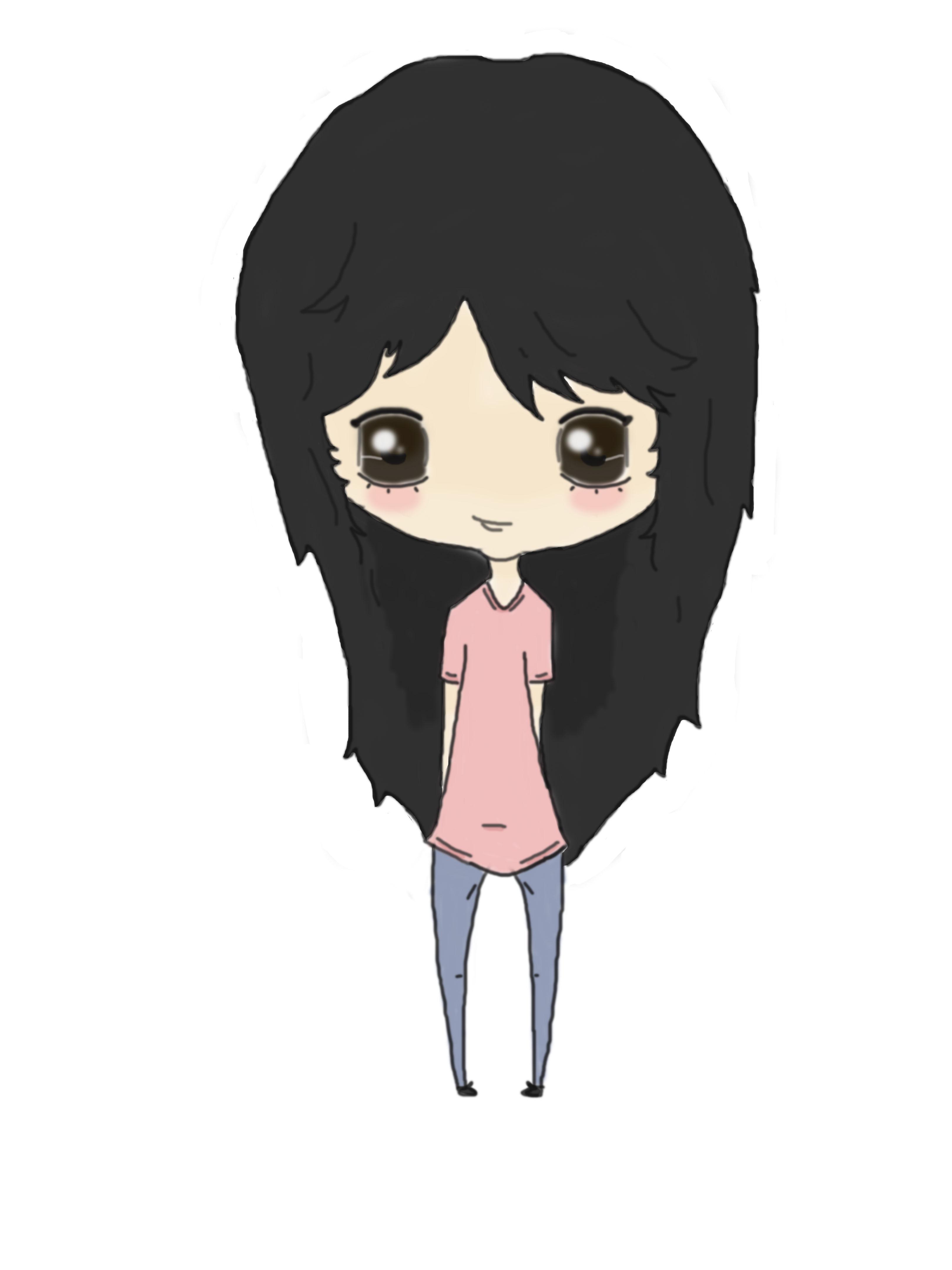 Chibi Girl Black Hair By Killerpastelkittens On Deviantart