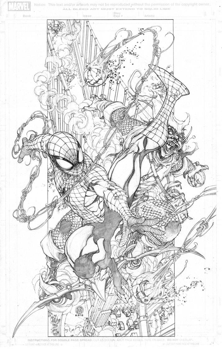 Spiderman vs green goblin by harveytolibao on deviantart for Spiderman vs green goblin coloring pages