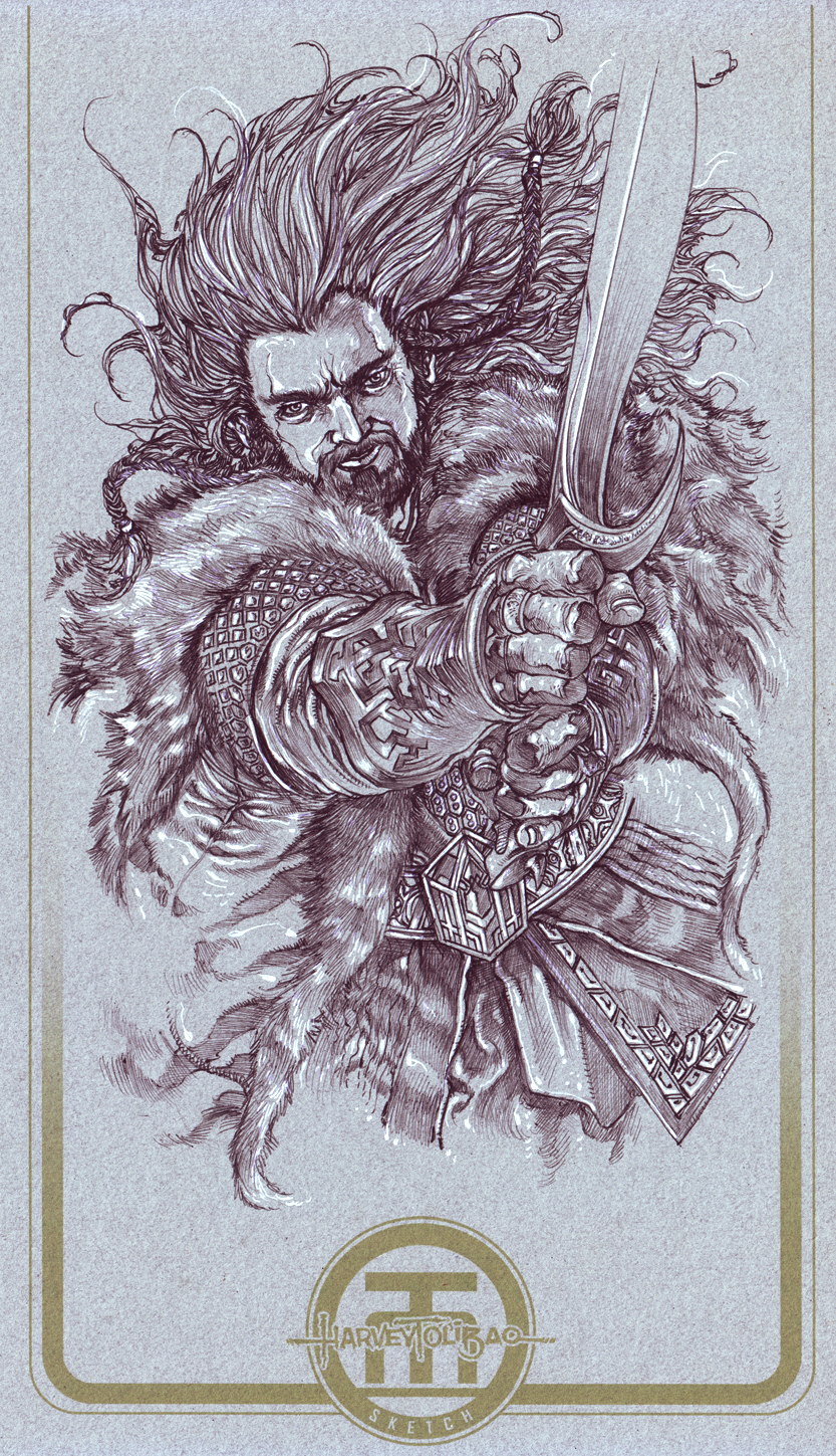 Thorin of Hobbit by harveytolibao