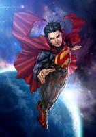 Superman New 52 with HMT Studios by harveytolibao