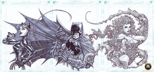Triple Treat BATMAN by harveytolibao
