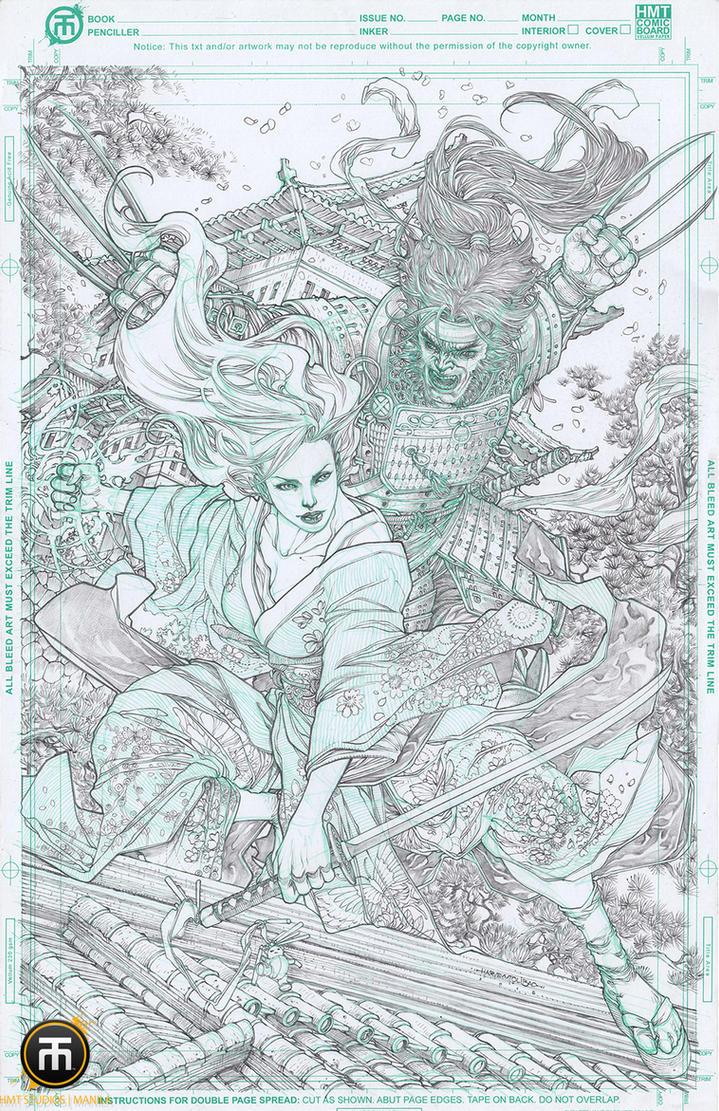Psylocke vs Wolverine by harveytolibao