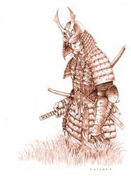 samurai warrior by harveytolibao