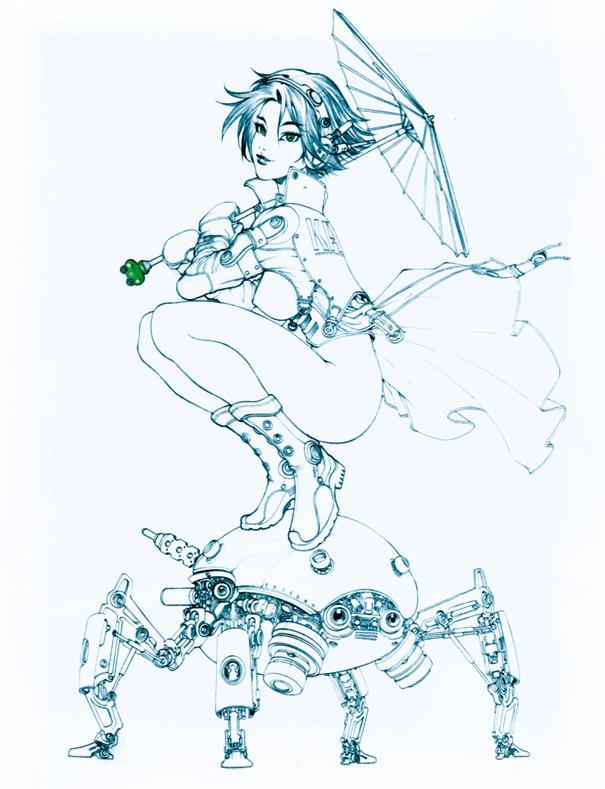 portrait of mokoto by harveytolibao