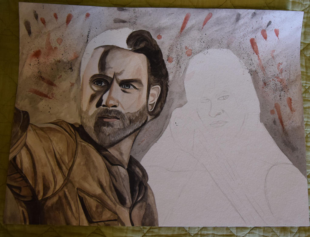 The Walking Dead WIP by Inlacrimas