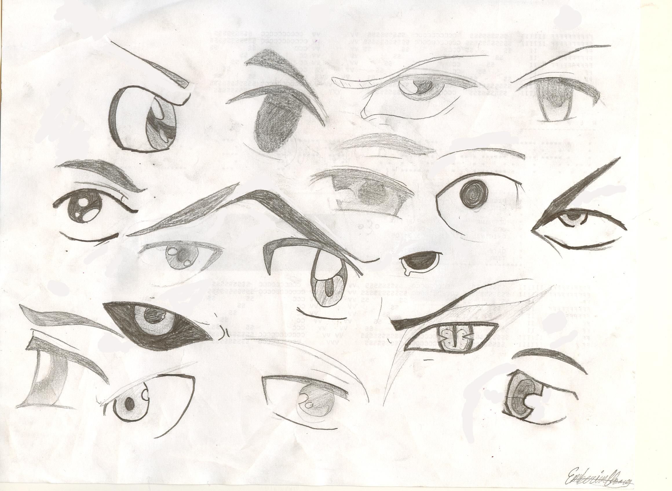 anime wolf eye drawing: How To Draw Angry Wolf Eyes