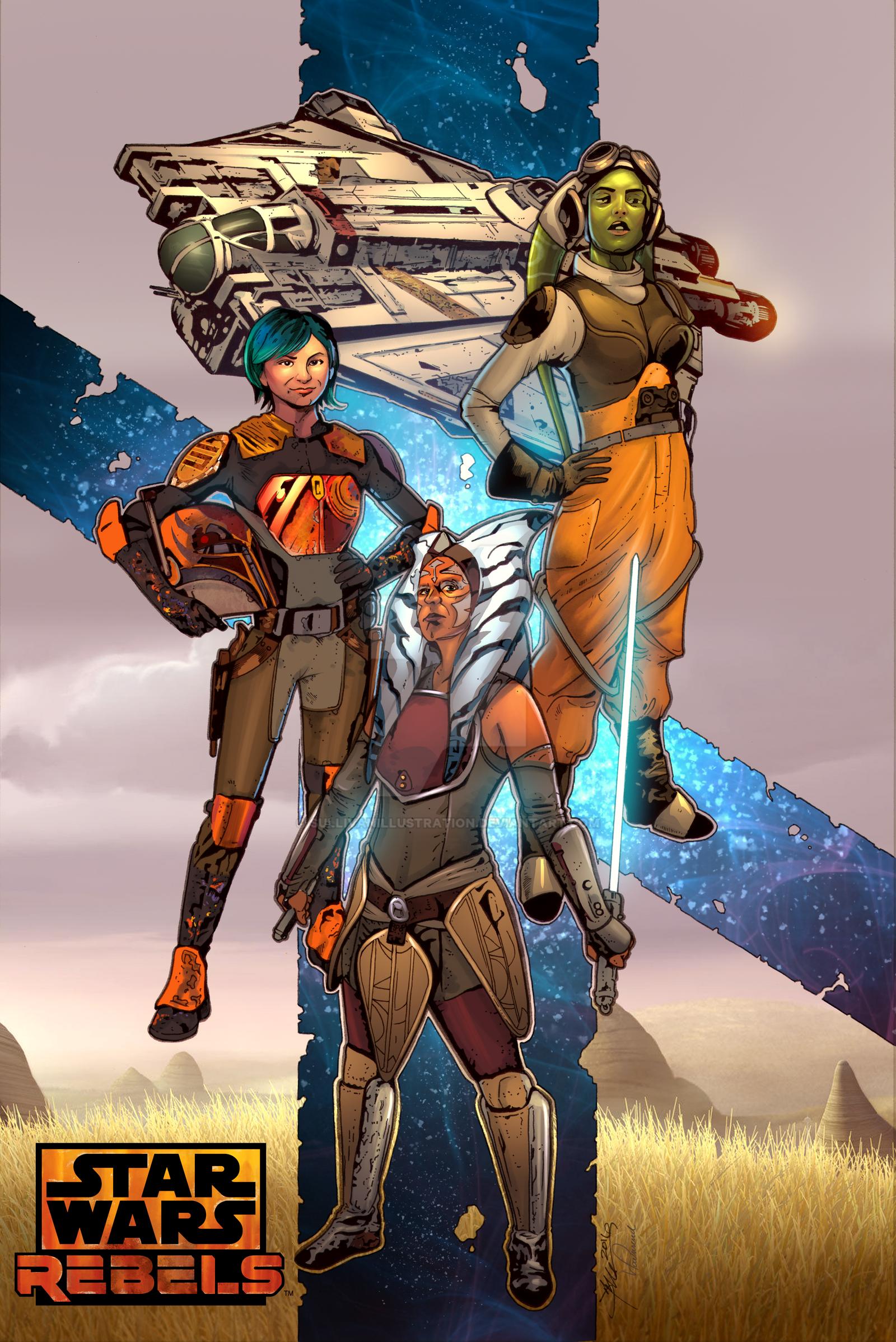 The Women of Star Wars Rebels by sullivanillustration
