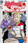 Animated Joker and Harley Quinn Sketch Cover