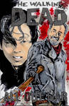 Walking Dead Glenn and Negan Sketch Cover