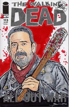 Walking Dead Negan Sketch Cover