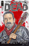 Walking Dead Negan Sketch Cover
