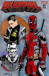 Deadpool Movie Hand Drawn Sketch Cover