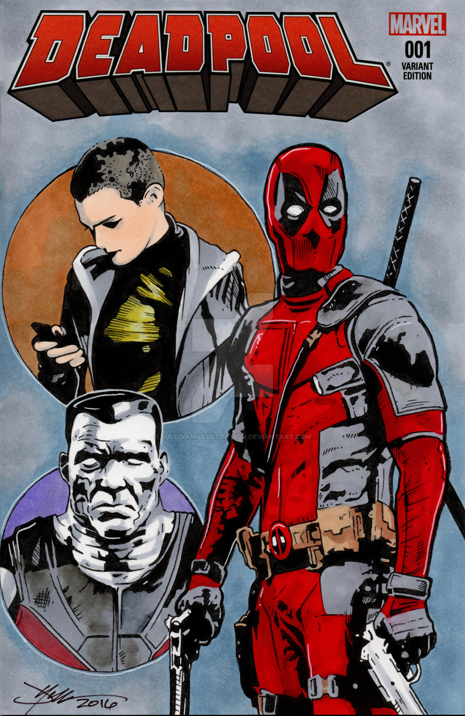 Deadpool Movie Hand Drawn Sketch Cover by sullivanillustration