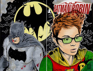 Dark Knight and Carrie Kelly sketch Cover