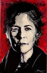 Walking Dead Carol Hand Drawn Sketch Cover