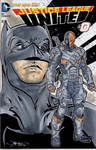 Batman and Deathstroke Hand Drawn Sketch Cover