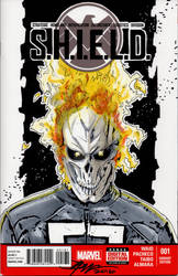 Agents of S.H.I.E.L.D Ghost Rider Sketch Cover