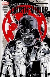 Star Wars Darth Vader Hand Drawn Sketch Cover