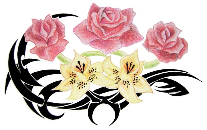 commish - flower tattoo - flower tattoo