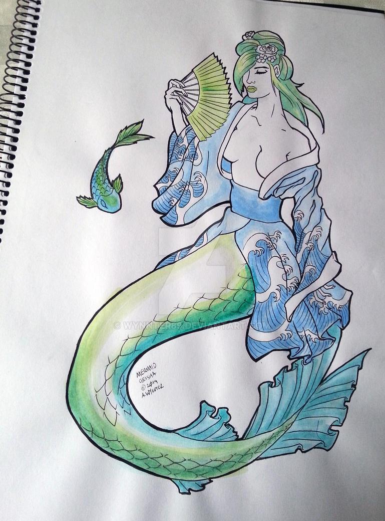 Mermaid Geisha by wynnter89