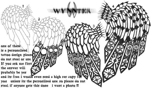 Commish-Wings tattoo - shoulder tattoo