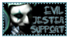 Evil Jester Stamp by cheshirecatbus
