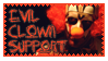 Evil Clown Stamp by cheshirecatbus