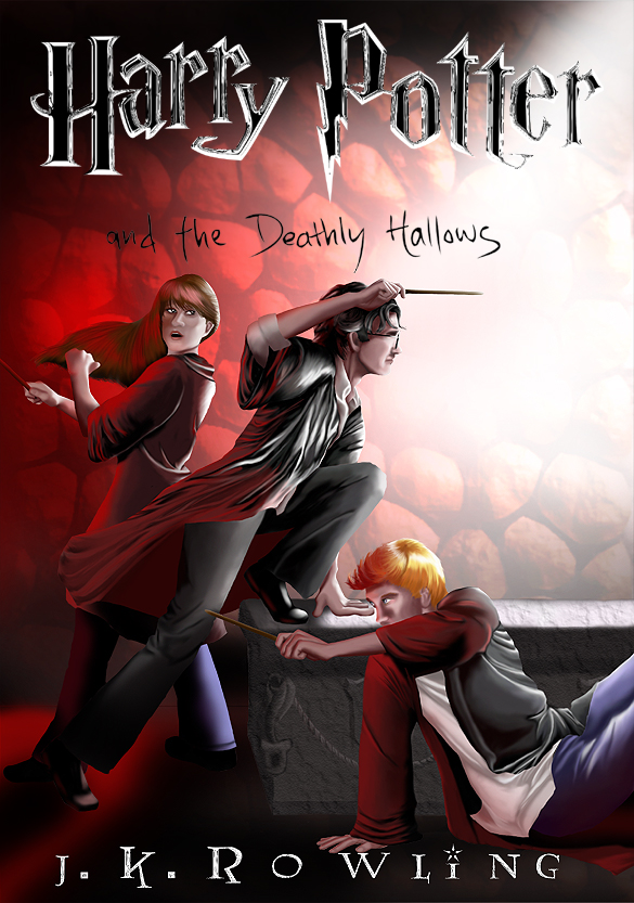 Harry Potter Book Cover Ly Hallows ~ Deathly hallows book cover by lizwa on deviantart