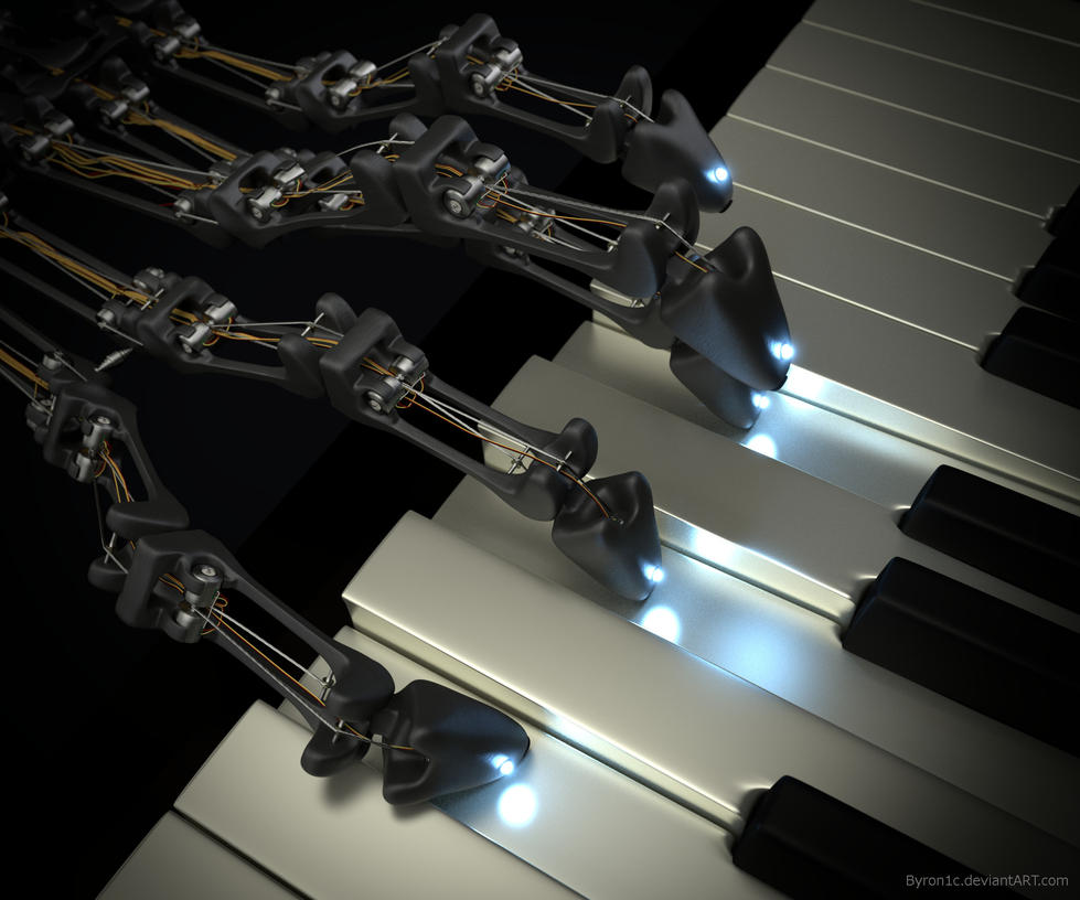 Robot Hand Playing Piano