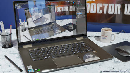 My Blender Workstation - Lenovo Yoga 720 15