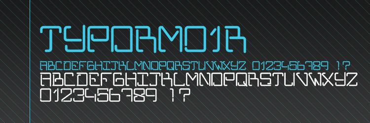 TYPORM01R Font by RGSONE