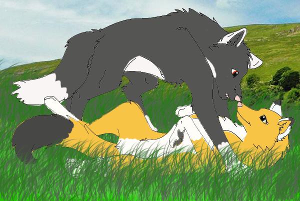 Wolf love sebastian and sasha by natashablackbutler on - Anime wolves in love ...