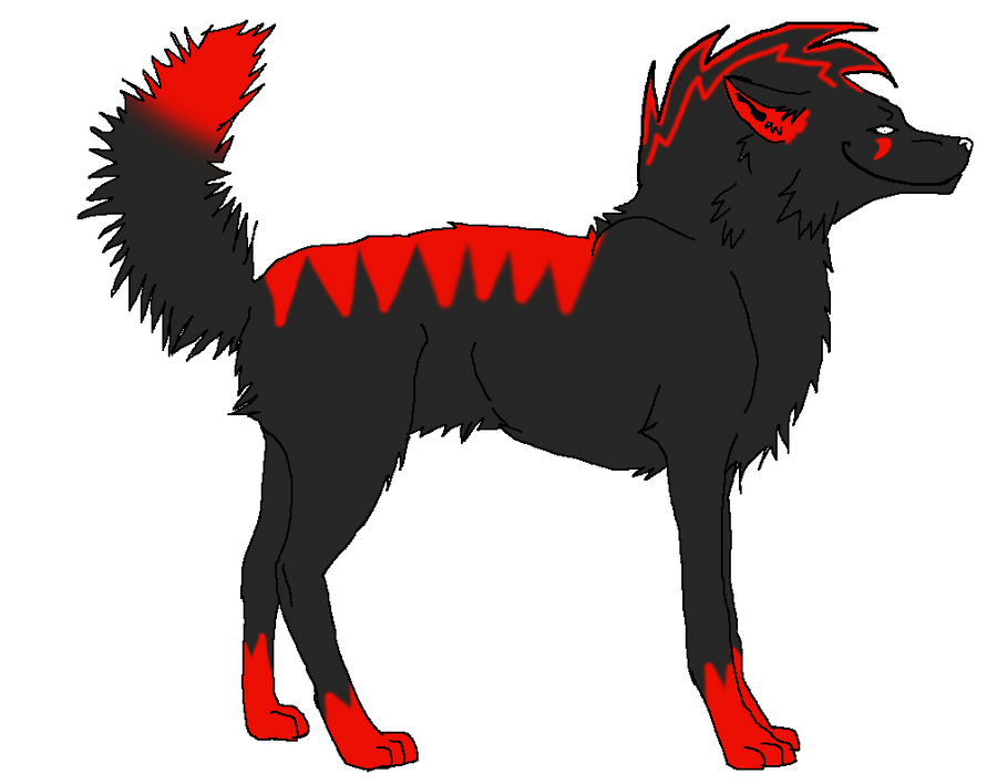 Red N' Black Wolf SOLD by natashablackbutler on DeviantArt