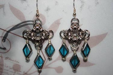Chainmail Chandelier Earrings by Jentalgirl