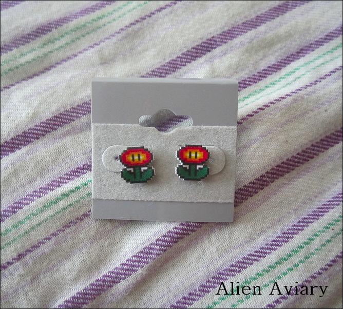 Fire Flower Earrings by alienaviary